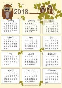 owl calendar template meinlilapark