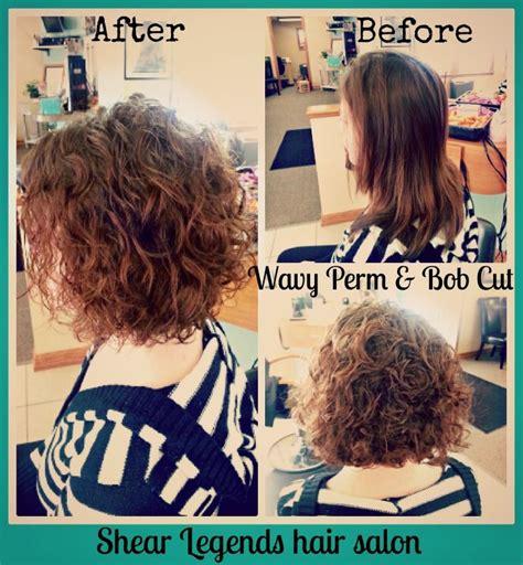 how to perm a bob hairstyle wavy perm bob cut shear legends hair salon saginaw mi
