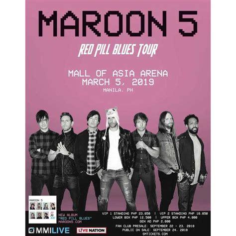 8428 Manila Maron maroon 5 live in manila 2019 philippine concerts