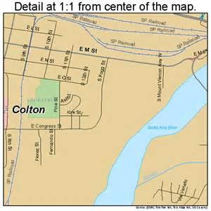 map of colton california colton california map 0614890