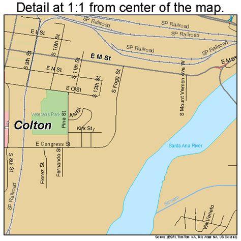 colton ca colton california map 0614890