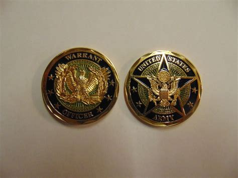 United States Warrant Search Challenge Coin United States Army Warrant Officer Ebay