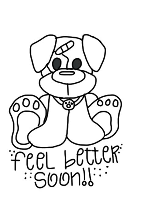 Feel Better Coloring Pages cre8tive feel better soon