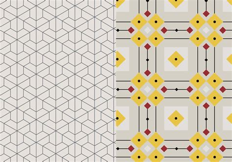 mosaic pattern vector geometric mosaic pattern download free vector art stock