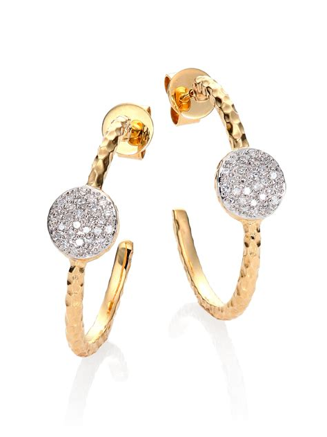 phillips house phillips house affair diamond 14k yellow gold infinity small hoop earrings 1 in
