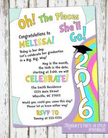 oh the places you ll go graduation invitation by meghily s catch my