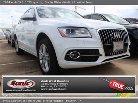 Audi Q5 Chestnut Brown Interior by Glacier White Metallic 2014 Audi Q5 3 0 Tfsi Quattro