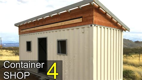 motorola container shop youtube painting the shipping container shop part 4 awning