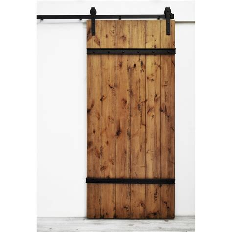 Shop Dogberry Collections Drawbridge Stained Solid Core 1 Wood Barn Doors