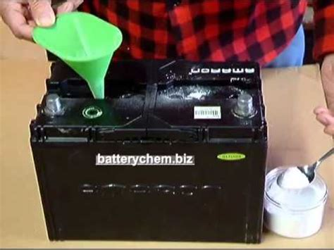 battery reconditioning step  adding battery chem youtube