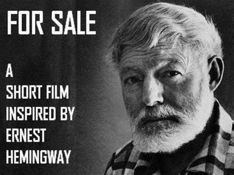 ernest hemingway biography in short for sale a short film inspired by hemingway by walter
