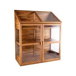 armoire serre en bois et verre l 120 x 61 x h 144 cm