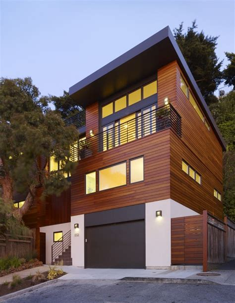Contemporary House Siding Cole Valley Hillside Residence Shelby White The