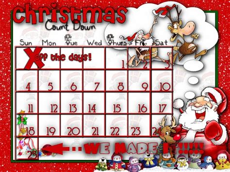 kids christmas countdown calendar printable calendar