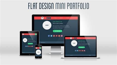 Flat Design Portfolio Template Freebies Fribly Ui Designer Portfolio Templates