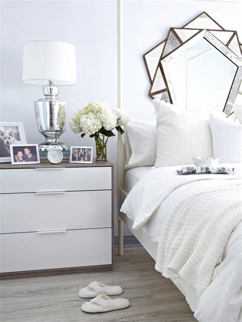 White Bed by White On White Guest Bedroom Makeover Hgtv