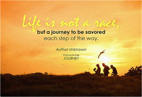 Travel Quote: Life is not a race