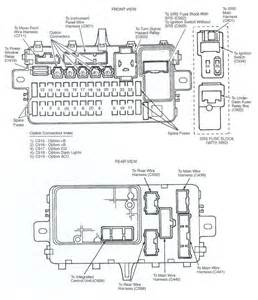fuse box diagram for 92 honda civic automotive wiring