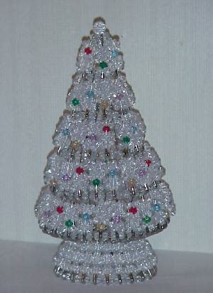 instructions for vintage safety pin christmas trees beaded tree pattern tree kit made with faceted