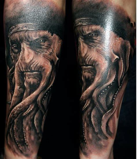 pirates of the caribbean tattoo guil zekri turns into realistic tattoos 171