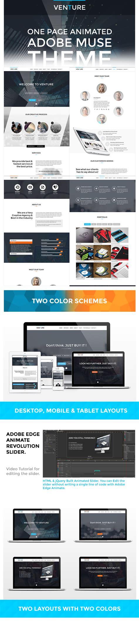 Venutre Adobe Muse Animated Website Template By Vmsdesigns On Deviantart Adobe Muse Website Templates