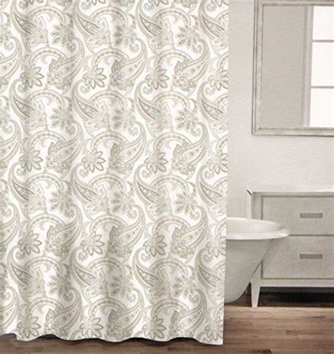 grey paisley shower curtain caro home 100 cotton shower curtain paisley scroll fabric