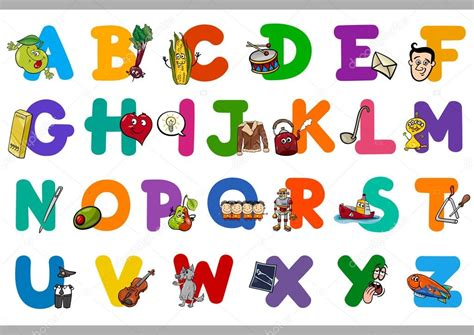 Imagenes Educativas Para Preescolar | alfabeto de dibujos animados educativos para ni 241 os