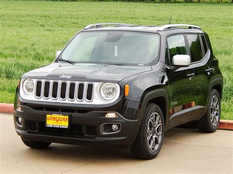 small black jeep 2015 jeep renegade limited with black leather trimmed