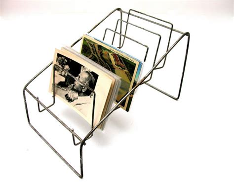 Postcard Display Rack by Vintage Postcard Display Rack Wire General Store Counter Top