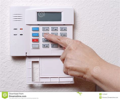 house alarm setting the house alarm royalty free stock photography image 1578497