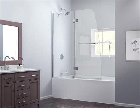 Showers aqua tub door frosted glass frameless bathtub door