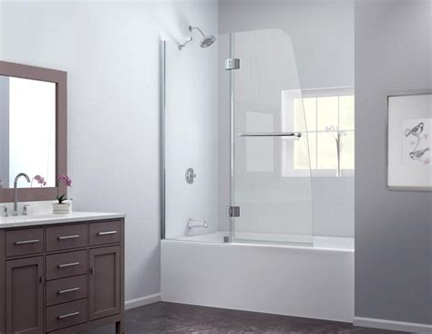 shower door on bathtub dreamline showers aqua tub door frosted glass frameless bathtub door