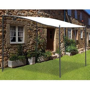 3x3m deluxe canopy metal wall gazebo awning garden marquee