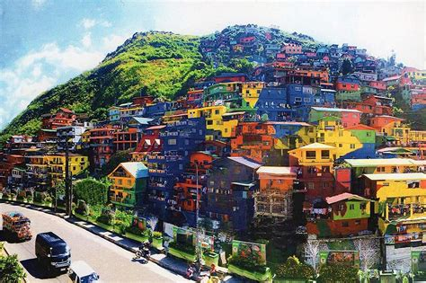 picture of homes look benguet houses turned into colorful mural abs cbn news