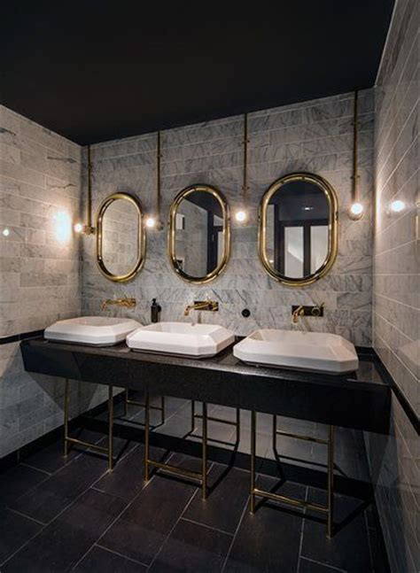 commercial bathroom area   industrial style