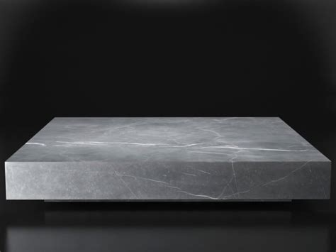 square marble coffee table low marble plinth square coffee table 3d model