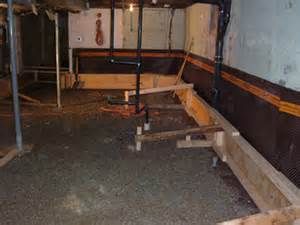 how to lower basement floor pioneer waterproofing