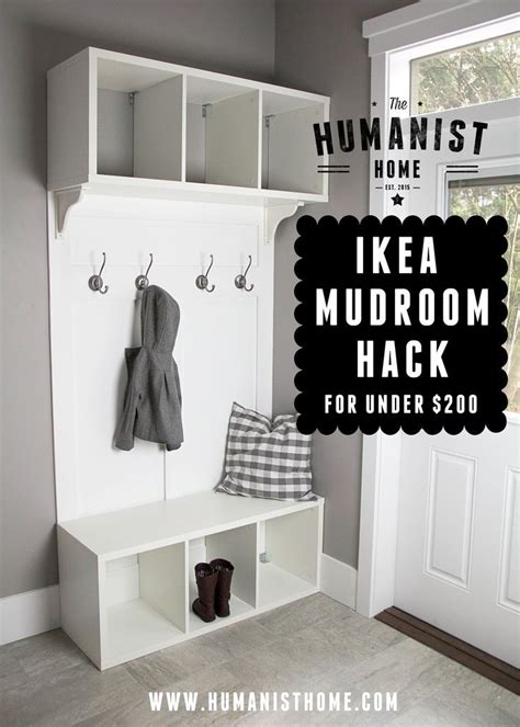ikea hack closet organizers ana white com mikayla s board pinterest bench storage white pin for later diy mudroom bench and storage from ikea