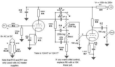 diy circuit tone ampli