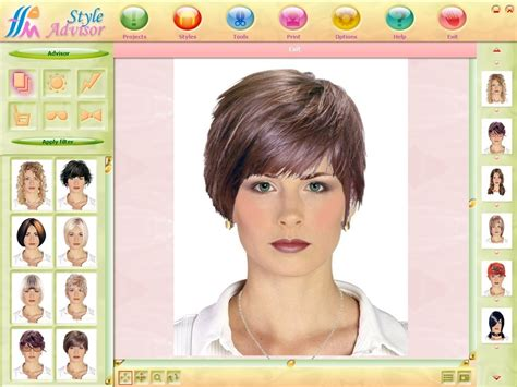 New Hairstyle Generator Free by Screenshot Of Style Advisor Version 1 0 Soft Xpansion