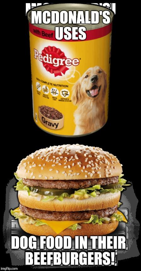 Meme Burger - mcdonald s dog food burger imgflip