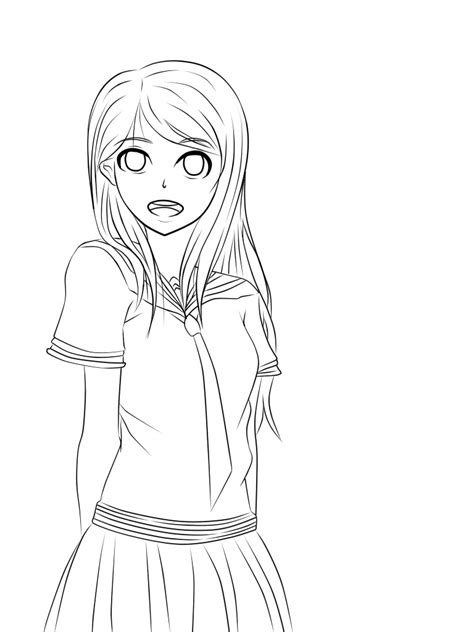 pictures girl coloring schoolgirl pics for anime school girl coloring page school girl