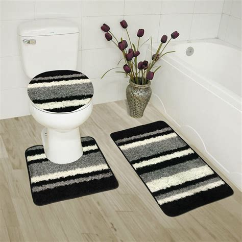 abby 3 bathroom rug set bath rug contour rug lid