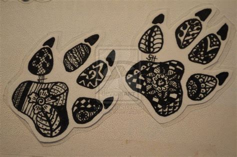tribal print tattoos tribal paw prints by doerki on deviantart tattoos