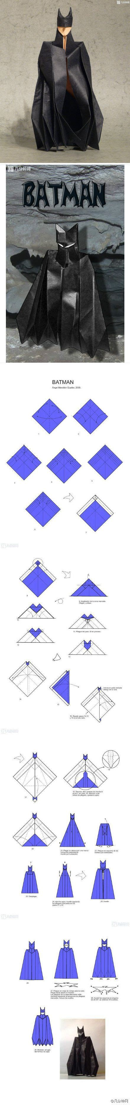 How To Make A Paper Batman - how to make an origami paper batman origami and