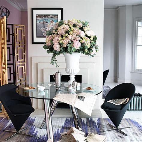 Glass Dining Table Decorating Ideas Chic Dining Room With Glass Table Decorating Housetohome Co Uk