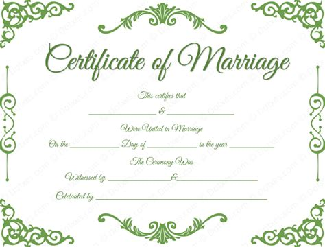 wedding certificate templates free printable traditional corner marriage certificate template dotxes