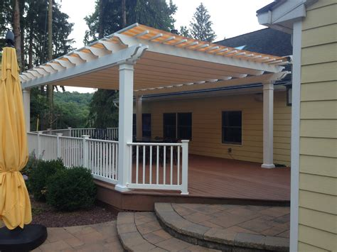 fiberglass pergola with shade canopy new jersey