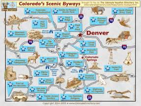 colorado scenic byways map drive loop co vacation