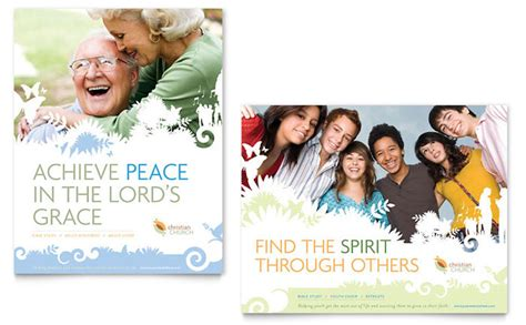 templates for church posters christian church poster template design